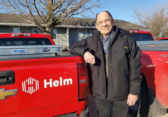 Gene Nott, seen here on Thursday, March 4, 2021, in Freeport, recently celebrated 50 years with the Helm Group. He has no plans to retire soon.