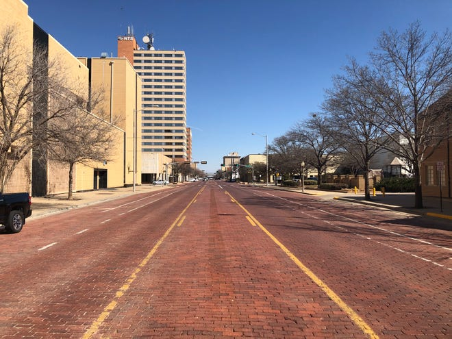 Broadway in Downtown Lubbock on Saturday, March 6, 2021.