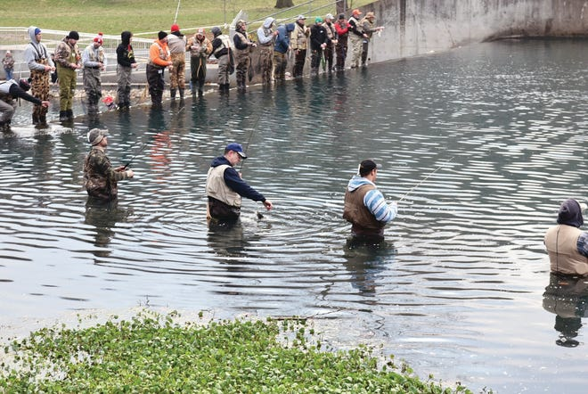 Don't think of the Missouri Trout Opener as crowded. Think of it as a fishing celebration.