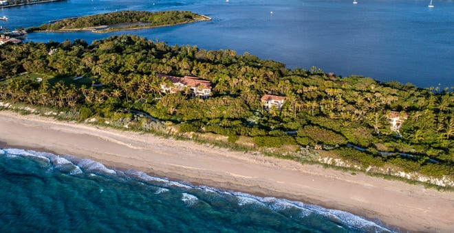 The Ziff family has sold, for a recorded $94.17 million, its 15.65-acre ocean-to-lake compound at 2000 S. Ocean Blvd. in Manalapan. With dense vegetation, the property near the Boynton Beach Inlet was on the market for about six years. Via a separate deed recorded at $200,000, a portion of Bird Island, seen at the upper left, was also purchased by the same buyer, a trust for which attorney Ronald Kochman serves as trustee. The buyer plans to keep the estate intact rather than subdivide it, according to sources familiar with the sale
