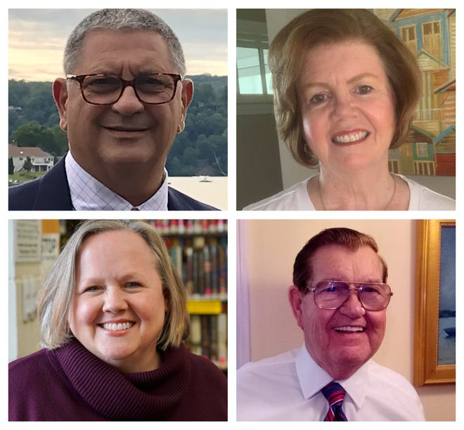 FrankDeLuca, Kathy Terry, Wendy Rega and Jerry Znoj are running for two seats on the Hampton School Board.