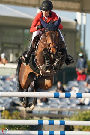 Jessica Springsteen and Don Juan van de Donkhoeve clinched the victory for the U.S. on Friday night in the final round of the four-star event in her WEF Nations Cup debut.