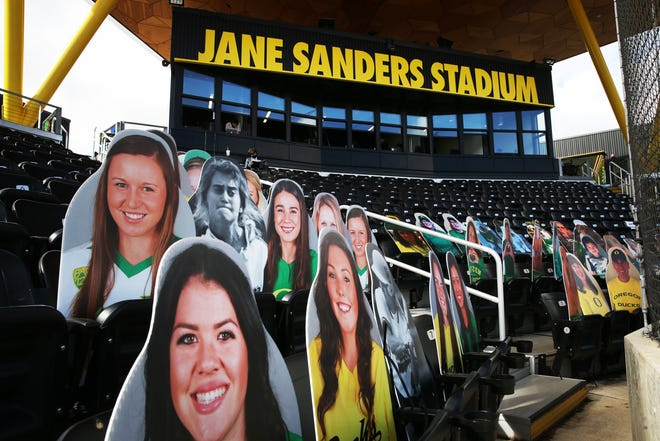 A limited number of fans will be allowed to attend No. 3 Oregon's softball series with No. 2 UCLA this weekend at Jane Sanders Stadium.