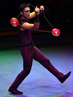"""Elan España is an eighth-generation circus performer born in the U.S. to Italian and Mexican parents. He has been on the stage juggling diabolos since he was 6 and is now appearing in """"Prevail,"""" presented by the Circus Arts Conservatory, available for home streaming."""
