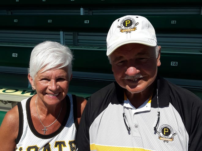 Jim Sadowski and his wife Julie are lifelong Pittsburgh Pirates fans. In fact, Jim pitched for the Pirates in 1974 and is on the board of directors for the Pirates Alumni Association. JIM BROCKMAN/HERALD-TRIBUNE