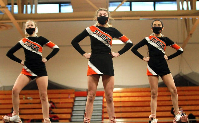 The Sturgis competitive cheer team took first place on Saturday.