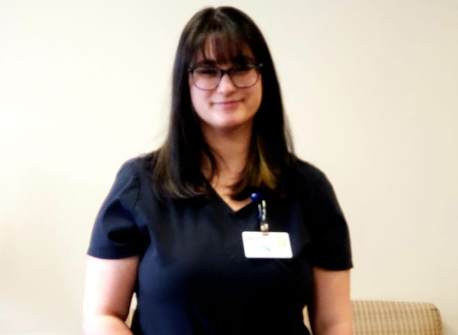 Amanda Ponciano, mental health worker in Day Kimball Healthcare's behavioral health department, was named employee of the month for February.