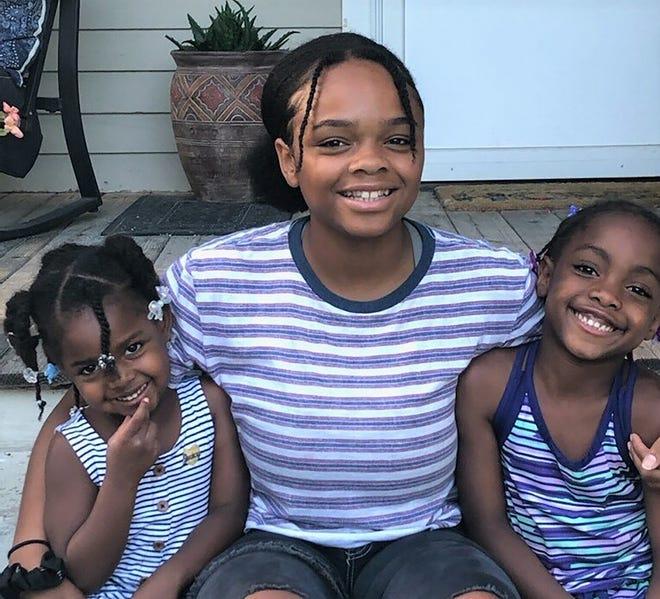 Middle: Aaliyah, 15; Saiida, 7, and Phoebe, 4.