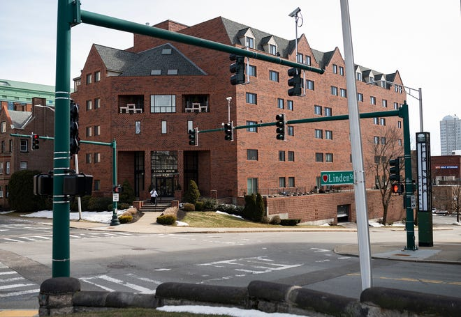 The Lynden House apartment tower, 44 Elm St., Worcester, is on the site of the Washburn Estate.