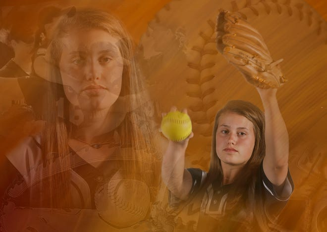 Becca Leigh Chadwick, from Northside High, is a member of the Tuscaloosa News Super Nine softball team for 2019. [Staff Photo Illustration/Gary Cosby Jr.]