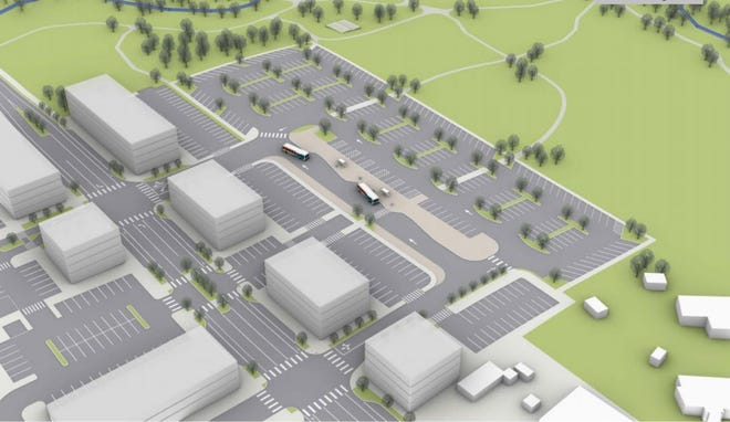 A conceptual image of the proposed park and ride on Sidney Road in Port Orchard