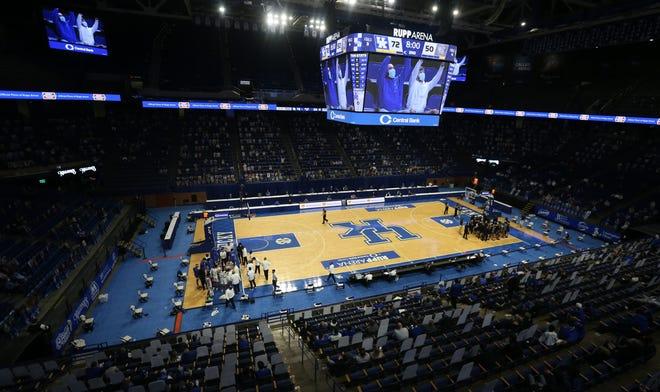 Kentucky against South Carolina in Rupp Arena.03/06/21