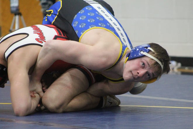 Ontario's Ethan Turnbaugh won the Division II 160-pound district championship on Saturday punching his ticket to state.