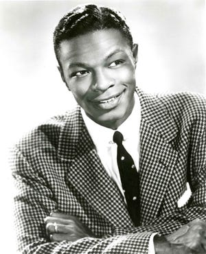 Nat King Cole publicity photo when he appeared at the Chi-Chi in Palm Springs in the late 1940s.