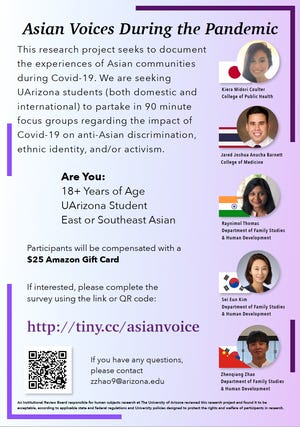 """""""Asian Voices During the Pandemic"""" presentation."""
