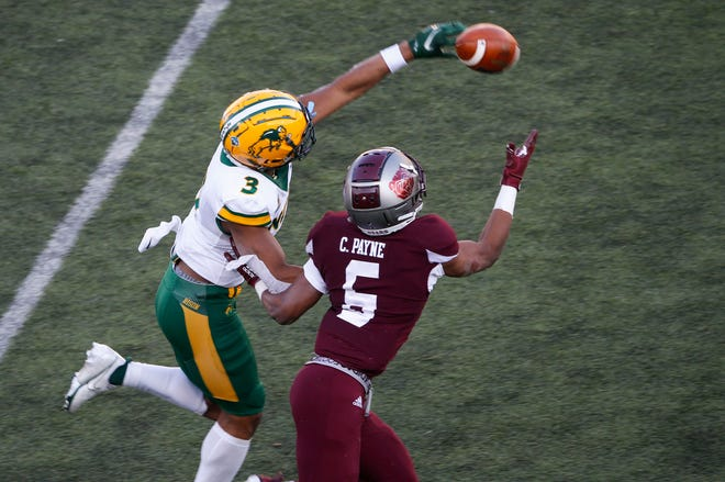 The Missouri State Bears lost 25-0 to the North Dakota State Bison at Plaster Stadium on Saturday, March 6, 2021.