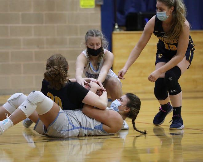 Ursuline defeats Lourdes 78-45 in girls basketball action at The Ursuline School on Saturday, March 6, 2021.