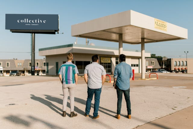 Mason Wilson, Patrick Kemp and Darion Ryan Roberts are co-owners of Collective Coffee & Community, due to open this month at the corner of Midwestern Parkway and Taft Boulevard.