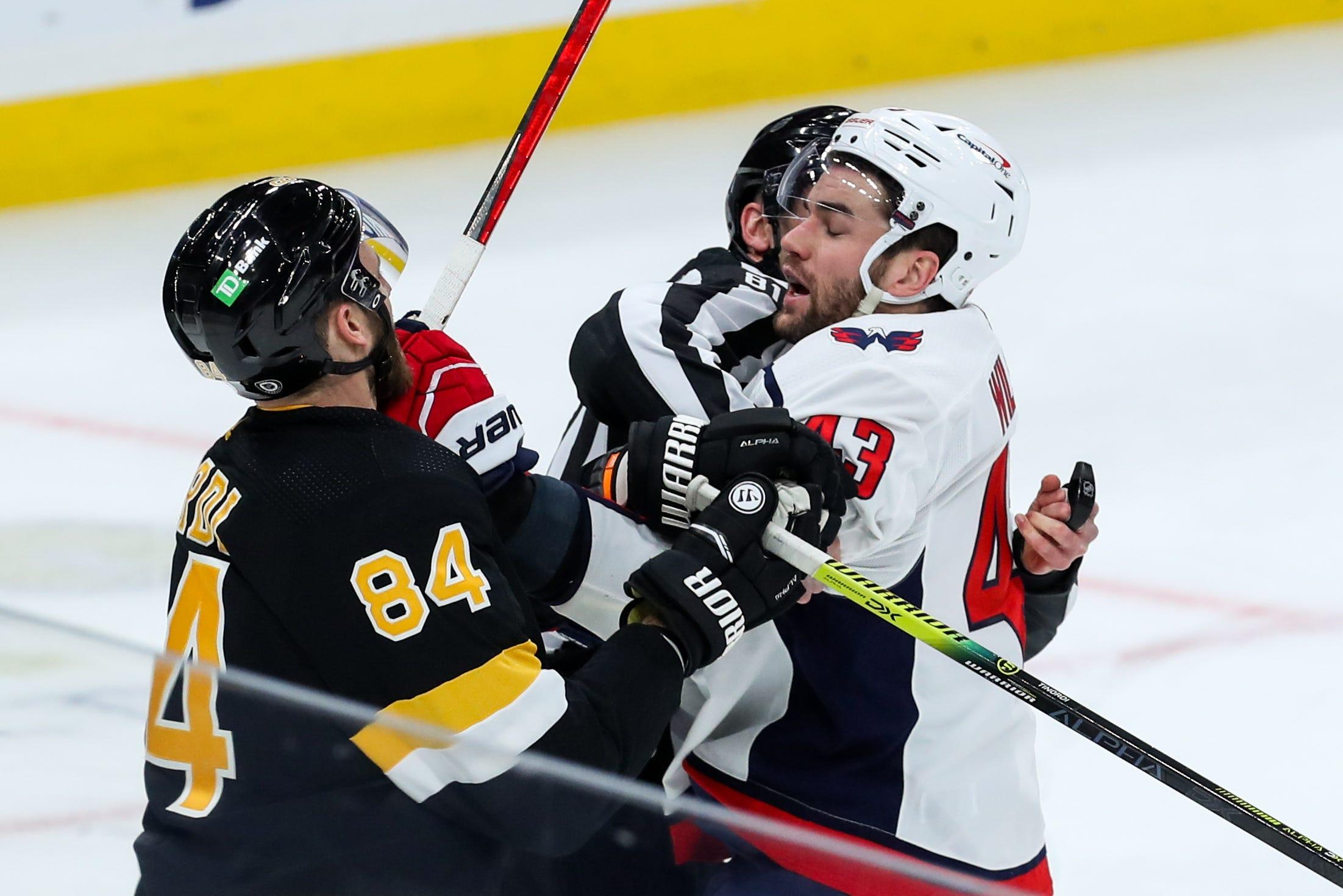 Washington Capitals  Tom Wilson gets seven-game suspension for boarding Boston Bruins  Brandon Carlo