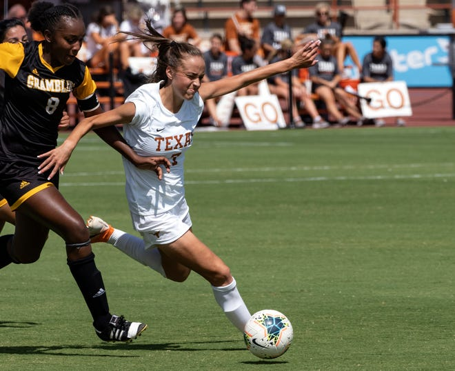 Texas' Julia Grosso, seen in previous action, had one of the Longhorns' four goals Friday against Texas State.