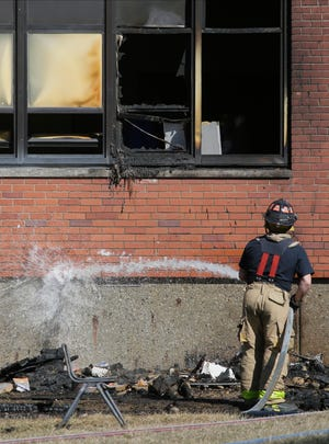 Columbus Firefighters responded to a minor fire Sunday at Buckeye Middle School.