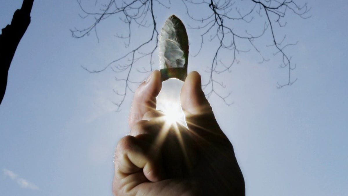 Archaeology: Researchers confident who buried cache of stone tools, but not why
