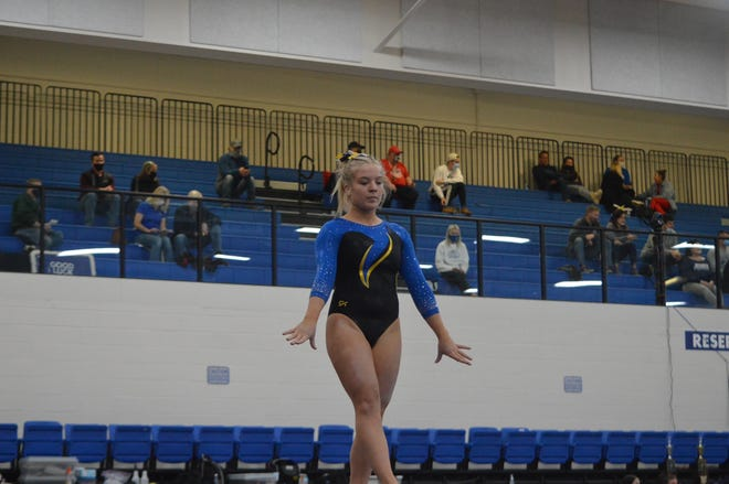 Wooster's Rachel Furlong at the Div. I Gymnastics State Championships.