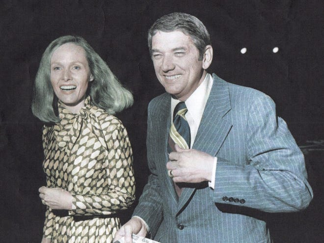 Then former-Lubbock Mayor Jim Granberry and his wife, Edwina, in 1974 when he was campaigning to be the Republican candidate for governor of Texas.