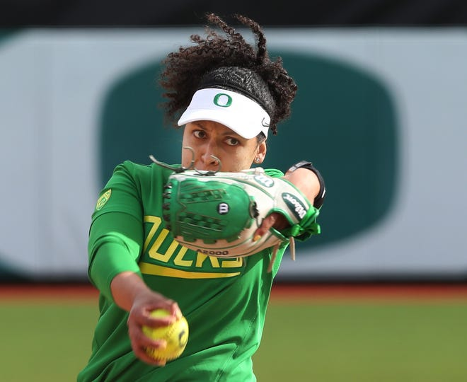 Oregon pitcher Samaria Diaz will be playing in the final regular-season home series of her career when the Ducks face Arizona beginning Friday.