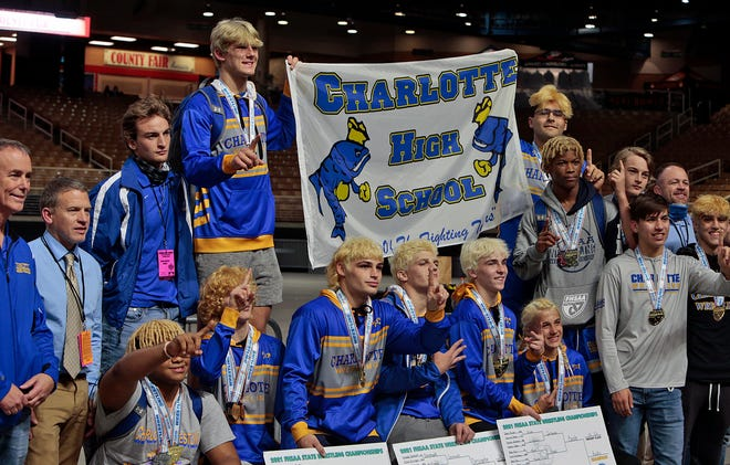 The Charlotte High wrestling team captured the Class 2A state title at the FHSAA Wrestling Championships on Saturday at Silver Spurs Arena in Kissimmee.