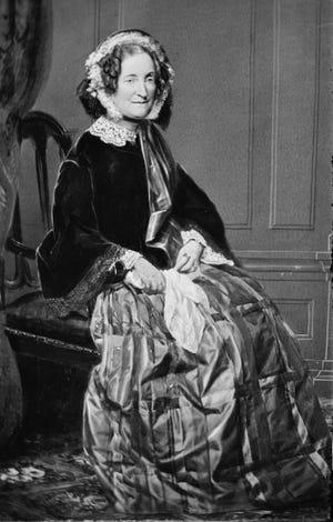 Lydia H. Sigourney photographed by Matthew Brady.