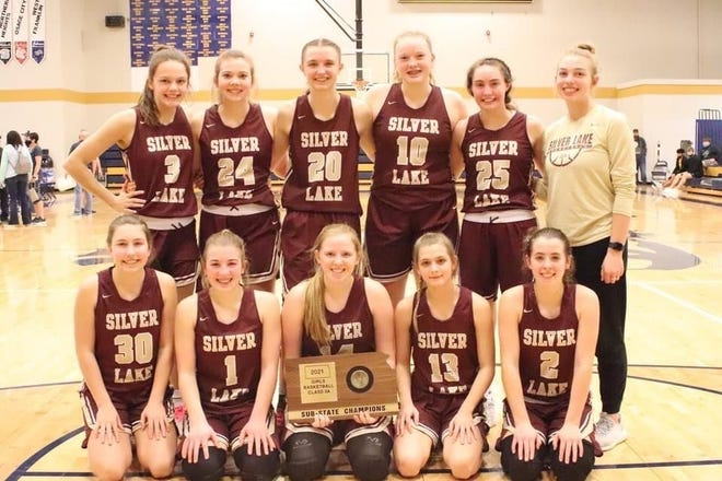 Silver Lake's girls captured the Class 3A sub-state championship at Council Grove with a 46-39 win over Riley County on Saturday, avenging two previous losses to the Falcons.