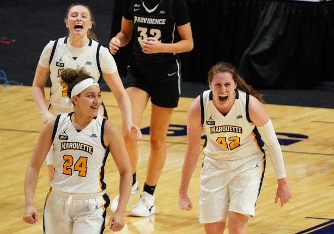 Marquette plays Virginia Tech in the first round of the NCAA women's basketball tournament.