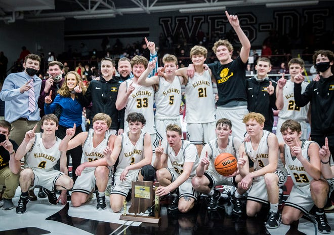 Cowan defeated Liberty Christian 55-53 during their sectional championship game at Wes-Del High School Saturday, March 6, 2021.