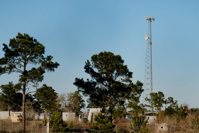 A tower by Black Tree Paintball on Cottletown Road in Smithville may help rural residents receive better internet access.