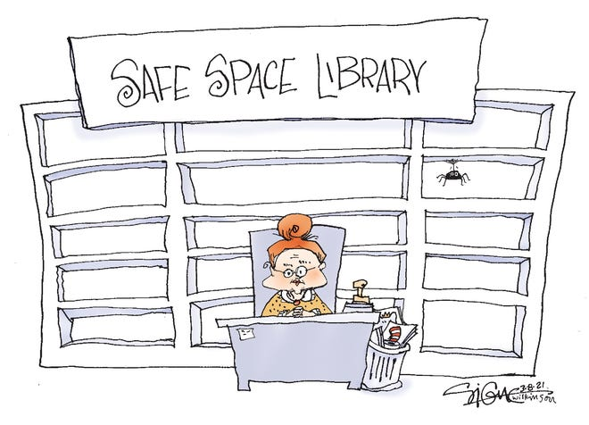 Signe cartoonSafe Space Library