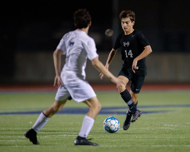 Hendrickson midfielder Jordan Franco and the Hawks have soared into first place in District 18-5A after four wins in four matches last week.