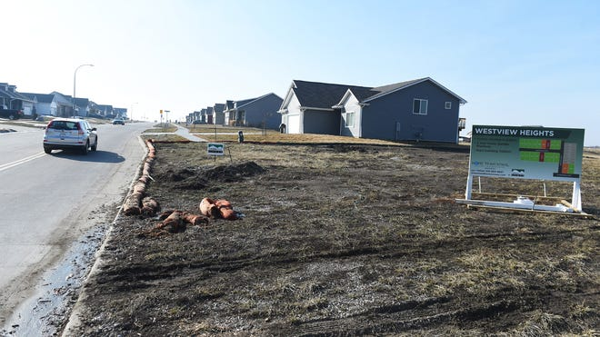 A new Westview Heights neighborhood is growing up north of Huxley, Iowa, pictured on Thursday, March 4, 2021.