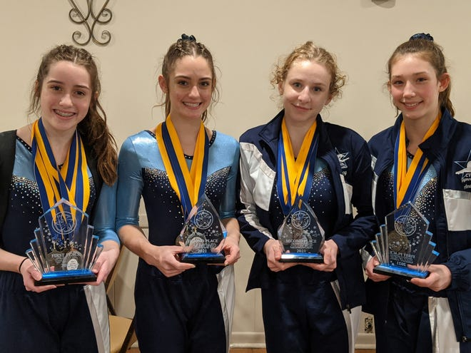 Central Valley gymnasts Megan Grimm (1st place Gold Division), Carolyn Grimm (2nd place Diamond Division), Cailey Dolata (2nd place Silver Division), Amber Wilson (1st place Silver Division) were among the winners at the PA Classic state gymnastics championship over the weekend.