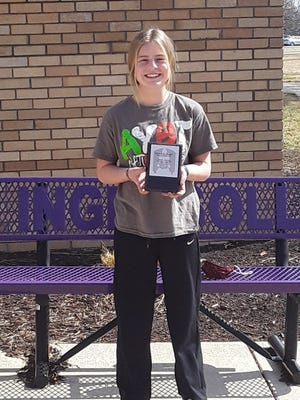 Ingersoll Middle School is proud to announce Brooklyn Dennis as the January recipient of the Steven R. Nagel Distinguished Student of the Month Award.