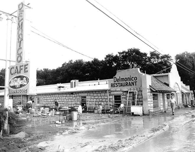 Delmonico's Restaurant of its South 2nd Avenue incarnation after a flood.