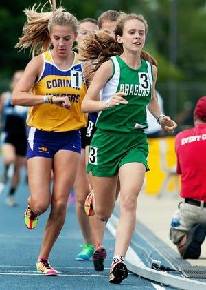 Callie Wynn runs in the state track meet. [File photo]