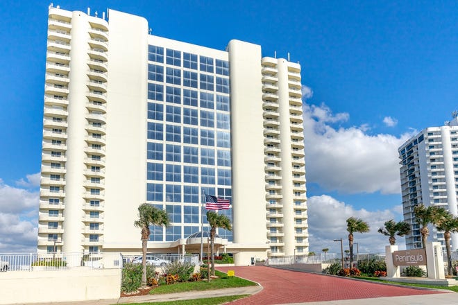 This rare two-bedroom, two-bathroom direct-oceanfront condominium residence is ideally set on the 12th floor of the premier Peninsula community, located in beautiful Daytona Beach Shores.