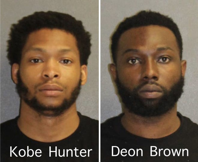 Volusia County deputies said Kobe Hunter and Deon Brown, both of Sanford shot a car occupied by four people on Interstate 4 on Saturday.