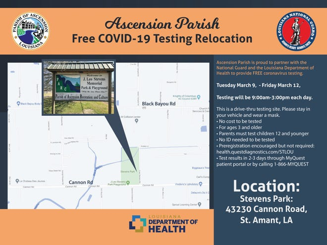 Free testing available at parks