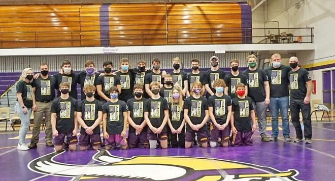 The Bronson Viking wrestling program honored the memory of Clark Walker with a quad meet sweep Saturday.
