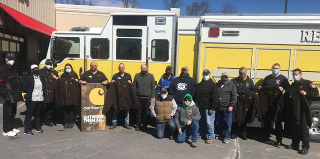 The Covington Independent Fire Company received a donation of Carhartt jackets.