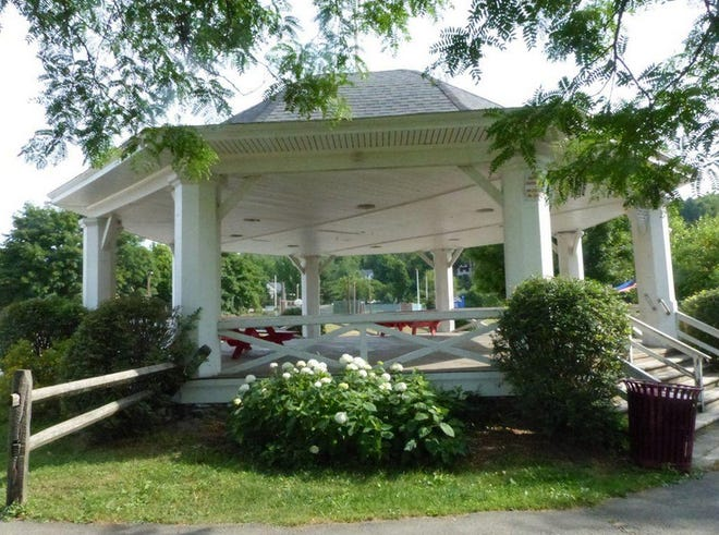 The historic and beloved bandstand in Hawley, Pa. was built in 1932. It has been the scene of many concerts, picnics, visits with Santa and other community functions through the decades.