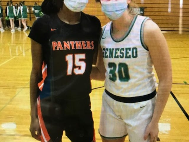 Kammie Ludwig, a junior at Geneseo High School, reached 1,000 career points in game against United Township when UT's senior Jade Hunter, also scored 1,000 in the same contest, with Geneseo winning 67-34.