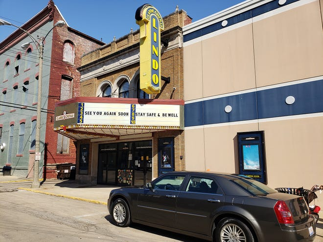 The Lindo Theatre, seen here on Saturday, March 6, 2021, in downtown Freeport, is set to reopen to moviegoers on April 15.